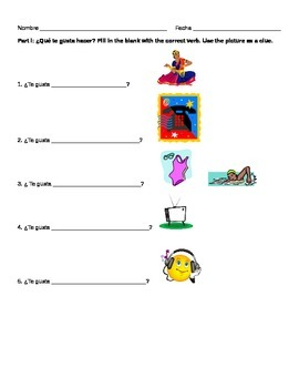Spanish Activities and Descriptions