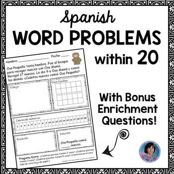 Spanish Addition, Subtraction and Comparison Word Problems