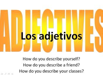 Spanish Adjectives Powerpoint Presentation
