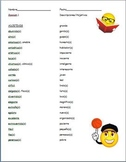 Spanish - Adjectives Vocabulary Worksheet