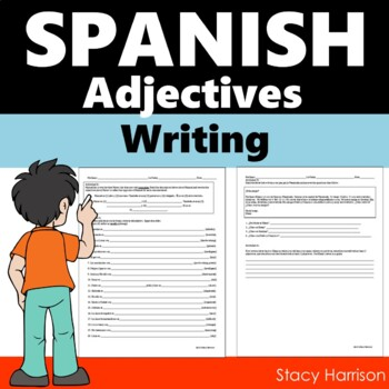 Spanish Adjectives Writing Practice #1 (Los Adjetivos)