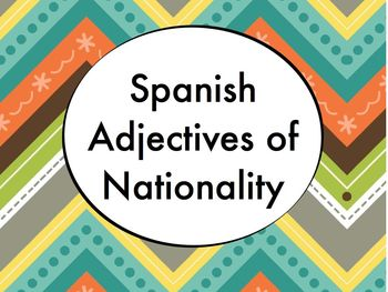 Spanish Adjectives of Nationality PowerPoint Slideshow Pre