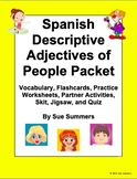 Spanish Adjectives of People Packet - Vocabulary, Practice