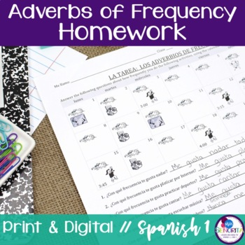 Spanish Adverbs of Frequency Homework