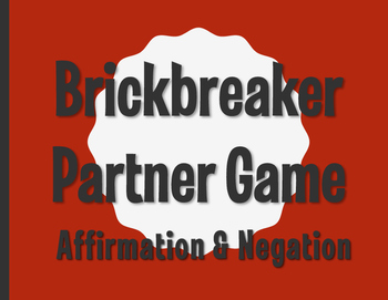 Spanish Affirmation and Negation Brickbreaker Partner Game