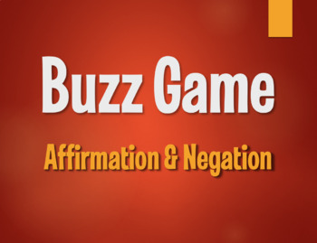 Spanish Affirmation and Negation Buzz Game