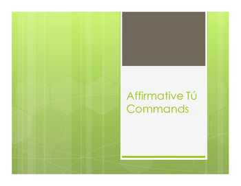 Spanish Affirmative Tú Commands Notes
