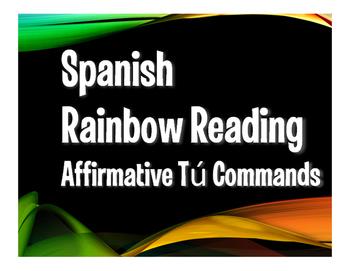 Spanish Affirmative Tú Commands Rainbow Reading
