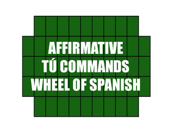 Spanish Affirmative Tú Commands Wheel of Spanish
