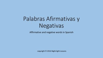 Spanish Affirmative and Negative Words