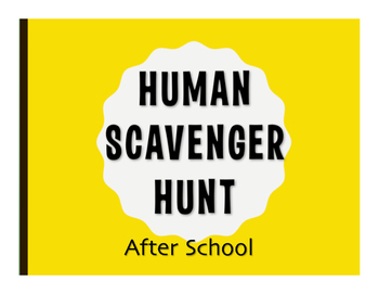 Spanish After School Human Scavenger Hunt