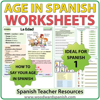 Spanish Age Worksheets