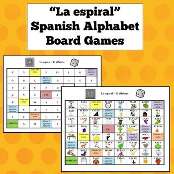 Spanish Alphabet Board Games