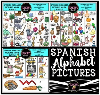 Spanish Alphabet Clip Art Mega Bundle