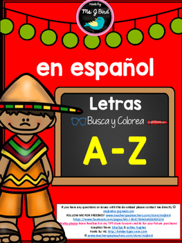 Spanish Alphabet - Find, Color & Trace Letter A FREEBIE
