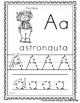 "Spanish Alphabet Handwriting Practice & Posters: ""A de Ast"