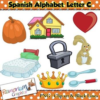 Spanish Alphabet Letter C Clip art