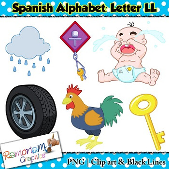 Spanish Alphabet Letter LL Clip art