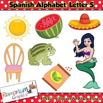 Spanish Alphabet Letter S Clip art