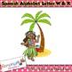 Spanish Alphabet Letter W & X Clip art