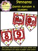 Spanish Alphabet & Numbers (0 - 9) - Pennants (School Design)