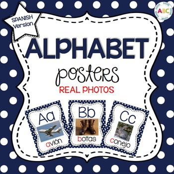 Spanish Alphabet Posters - REAL photographs