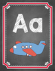 Spanish Alphabet Posters with Pictures {Chalkboard Theme}