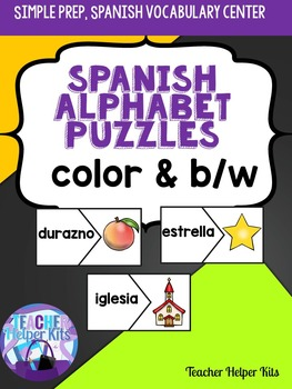 Spanish Alphabet Puzzles- Spanish Vocabulary