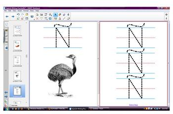 Spanish Alphabet Tracing with pictures