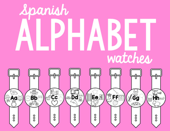 Spanish Alphabet Watches