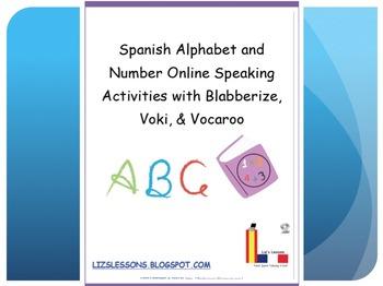 Spanish Alphabet and Number Online Speaking Activities!