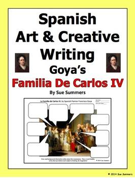 Spanish Art Creative Writing Activity - Goya's Familia de