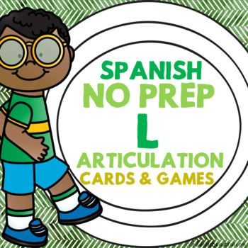 Spanish Articulation Cards and Games -- L Sounds and L Ble