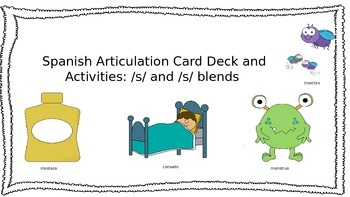 Spanish Articulation /S/ and /S/ Blend Card Deck and Activ