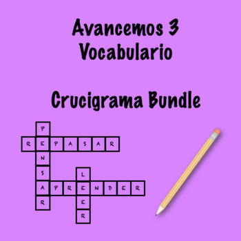 Spanish Avancemos 3 Vocabulary Crossword Bundle