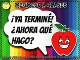 Spanish Back to School Early Finisher Activity- Regreso a