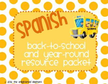 Spanish Back-to-School and Year-Round Resource Packet (pol
