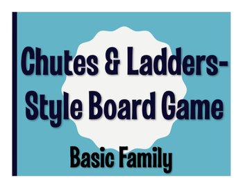 Spanish Basic Family Chutes and Ladders-Style Game
