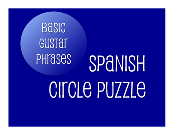 Spanish Basic Gustar Circle Puzzle