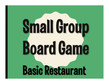 Spanish Basic Restaurant Board Game