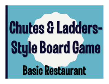 Spanish Basic Restaurant Chutes and Ladders-Style Game