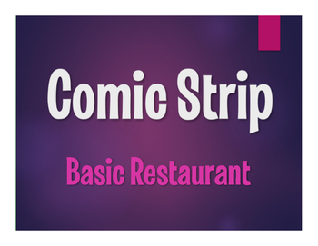 Spanish Basic Restaurant Comic Strip