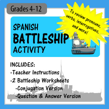 Spanish Battleship! - to review conjugation, interrogative