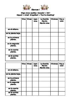 Spanish Teaching Resources. Battleships Game / Lotto: floo