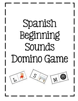 Spanish Beginning Sound Domino game