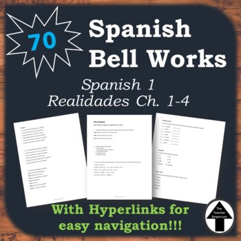 Spanish 1 Bell Work Collection of 70 Do Now, Bell Ringers,