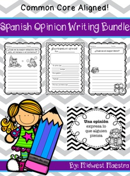 Spanish Bilingual Opinion Writing Unit