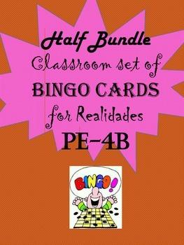 Spanish Bingo Card Bundle for Realidades PE-4B