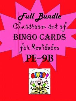 Spanish Bingo Card Bundle for Realidades PE-9B