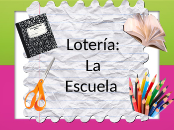 Spanish Bingo- La escuela/School Vocabulary